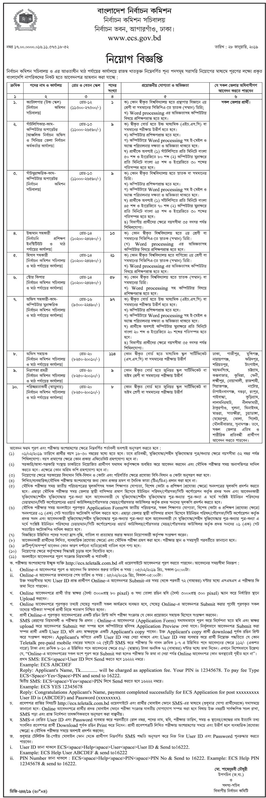 ellection-commission-job-circular-feb-2019 Application Letter For Job As Store Keeper on draft cover, fax cover, writing simple, human resource, best cv, heartfelt cover, hr cover, formal cover, short sample cover, hotel receptionist, english teachers, fresh graduate,
